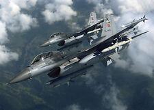 Poster A3 F-16 Fighting Falcon Avion Plane Guerra War
