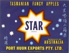 """SALE- Vintage Tasmania Apple Case Labels Fruit Art Poster """"baker's dozen""""-N (13)"""