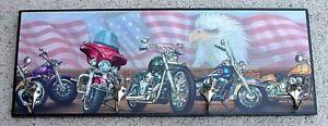 harley davidson motorcycle wall coat rack chrome