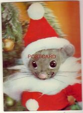 Continental-size 3-D CHRISTMAS MOUSE cpyrt J C Penney Co 1966 - printed in Japan