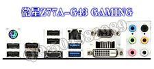 MSI I/O IO SHIELD  Z77A-G43 GAMING    #G1775 XH