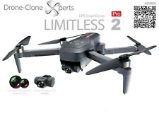 Drone X Pro LIMITLESS 2 GPS 4KUHD 5G WiFi Dual Camera Quadcopter RTH Follow Me