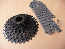 9 Speed CHAIN & CASSETTE Mtb Mountain bike Hybride Touring Shimano HG KMC X9