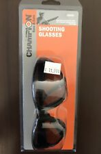 Champion 40600 Safety Shooting Range Glasses Stylish Black Frames/ Smoke Lenses
