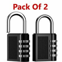 2x Weatherproof Security Padlock Outdoor Heavy Duty 4-Digit Combination Lock UK