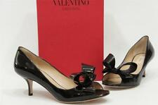 VALENTINO COUTURE BOW BLACK PATENT LEATHER PUMP SHOES 36.5/6 $695