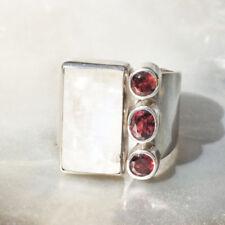 Markenlose Granate Echtschmuck-Ringe aus Sterlingsilber
