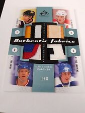 Bourque MacInnis Leetch Salming 2010-11 SP Game Used Quad Patches /8