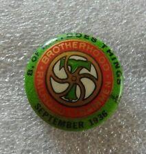 1936B De Rt Brotherhood Of Ferrocarril Trainmen Union Member Pin Un G Trimble
