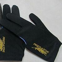 Unisex Black Spandex Snooker Billiard Cue Glove Pool Left Hand Three Finger TOP+