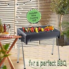 LARGE HALF  BARREL BARBEQUE  BLACK STEEL BBQ GRILL DRUM PORTABLE OUTDOOR FOOD