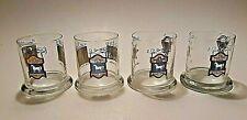 Vintage Set 4 White Horse Cellar Scotch Whiskey Glasses High Ball Bar Drink ware
