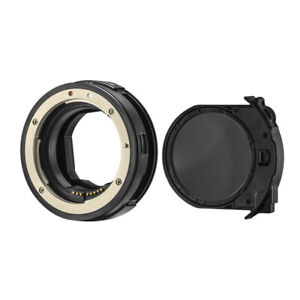CameraPlus EF-EOS R Drop-In Filter Mount Adapter With CPL Filter
