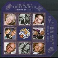 Gibraltar Royalty Stamps 2011 MNH Queen Elizabeth II & Prince Philip 6v M/S