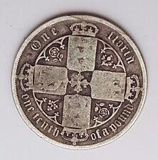 Dated : 1885 - mdccclxxxv - Silver Coin - Gothic Florin - Queen Victoria