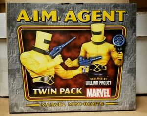 AIM A.I.M. AGENT MINI-BUST TWIN PACK BY BOWEN DESIGNS,SCULPTED BY WILLIAM PAQUET