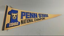 RARE VINTAGE PENN STATE NITTANY LIONS 1982 NATIONAL CHAMPIONS PENNANT FLAG