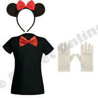 ADULT LADIES MINNIE MOUSE FANCY DRESS COSTUME MICKEY HEN NIGHT PARTY