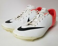 Nike Jr. Mercurial Vapor VIII, Football / Soccer Cleats, Size 5Y, White & Pink