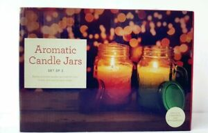 Aromatic Candle Jars. Set of 2 fragrances - Apple & Cinnamon and Winterberry