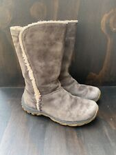 PATAGONIA LUGANO BROWN SUEDE WATERPROOF WINTER BOOTS WM 6 LEATHER SNOW