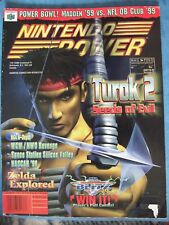 NINTENDO POWER #113 TUROK 2 SEEDS OF EVIL, COLLEGE HOOPS '99 POSTER ACCEPTABLE