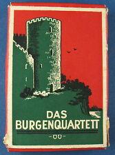Quartett - DAS BURGENQUARTETT - Ring-Verlag Hamburg - Quartettspiel - um 1949