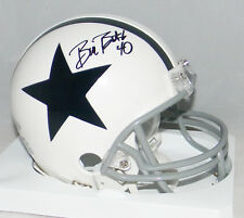 BILL BATES AUTOGRAPHED SIGNED DALLAS COWBOYS WHITE MINI HELMET TRISTAR