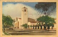 Linen Postcard CA G516 Cancel 1945 Santa Barbara Mission Spanish Architecture