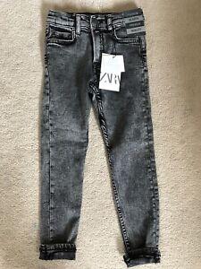 Boys Zara Grey Denim Jeans Age 7 122cm BNWT