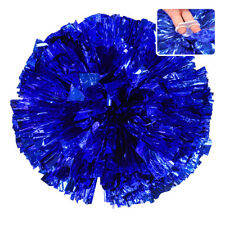 Handheld Pom Poms Cheerleader Cheerleading Dance Party Football Victory Come on Blue