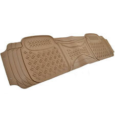 Motor Trend ECO Rear Rubber Mats Beige All Weather Liner CAR SUV TRUCK (1 PC)
