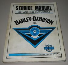Service Manual Harley Davidson XLH Models 1991 - 1992 Reparaturanleitung!