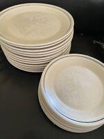 Set of (4) Lenox Silhouette Tree Temper-Ware Salad Plates. Pristine condition