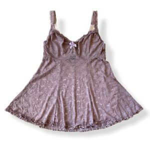 Torrid Lavender Lace w Underwire Babydoll Size 1 Plus Lingerie Slip Dress