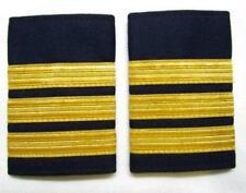 Epaulette Pilot Copilot Captain First officer Gold on Navy Blue cloth R985