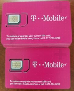 T-Mobile 4g 5g LTE 3 in 1 Triple Cut SIM Card Tmobile Standard, Micro, Nano 2022