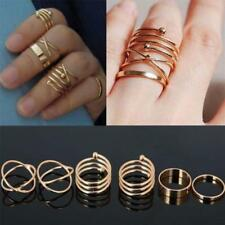 Fashion Jewelry Women Adjustable Band Gold Mid Knuckle Rings Set Stack Above