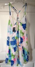 NWT Abercrombie & Fitch Mini  Little White Dress S Floral Halter Crossback