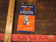 Vintage Delaval Separator or milker advertising every farm needs cow flyer 1947
