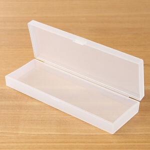Muji Polypropylene Plastic White Multipurpose Pen Pencil Case large madein japan