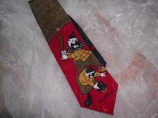 KR1801 Simon Krawatte 100% Seide Rot Weiß Braun Schwarz Petrol Gold Clowns 135cm