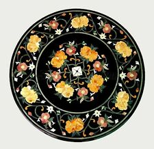 """Size 18""""x18"""" Marble Coffee Table Top Pietradure Mosaic Floral Art Furniture Deco"""