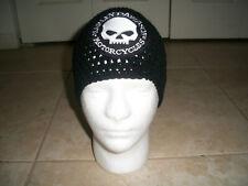 Harley Davidson Inspired HANDMADE Crochet Willie G Skull Hat Cap Beanie BLACK