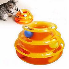 EG _ Chats Animal trilaminaire Disque turnplate boules jouet pour Teaser jeux