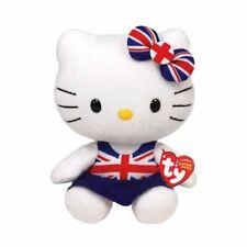 Hello kitty Union Jack Kleid Ty Beanie Plüschtier Spielzeug