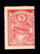 1928 REGNO P.AEREA SPEDIZIONE POLARE Umberto NOBILE-Folder+solo ERINNOFILO ROSSO