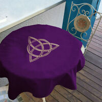 1pc Velvet Tarot Table Cloth Embroidery Crafts for Tarot Cards Purple 80x80