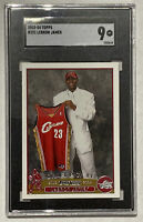 2003-04 Topps LEBRON JAMES Rookie Card RC #221 Graded SGC 9 - Lakers Cavaliers