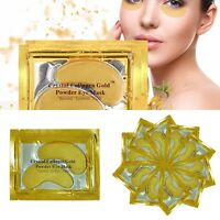10 Pairs 24k Gold Eye Collagen Aging Wrinkle Under Crystal Gel Patch Anti Mask
